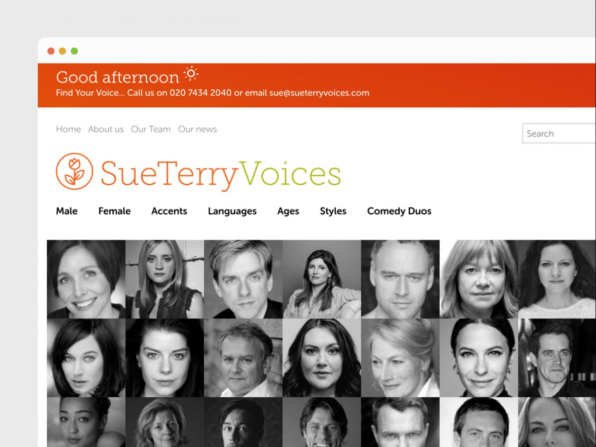 Voice-over talent management platform