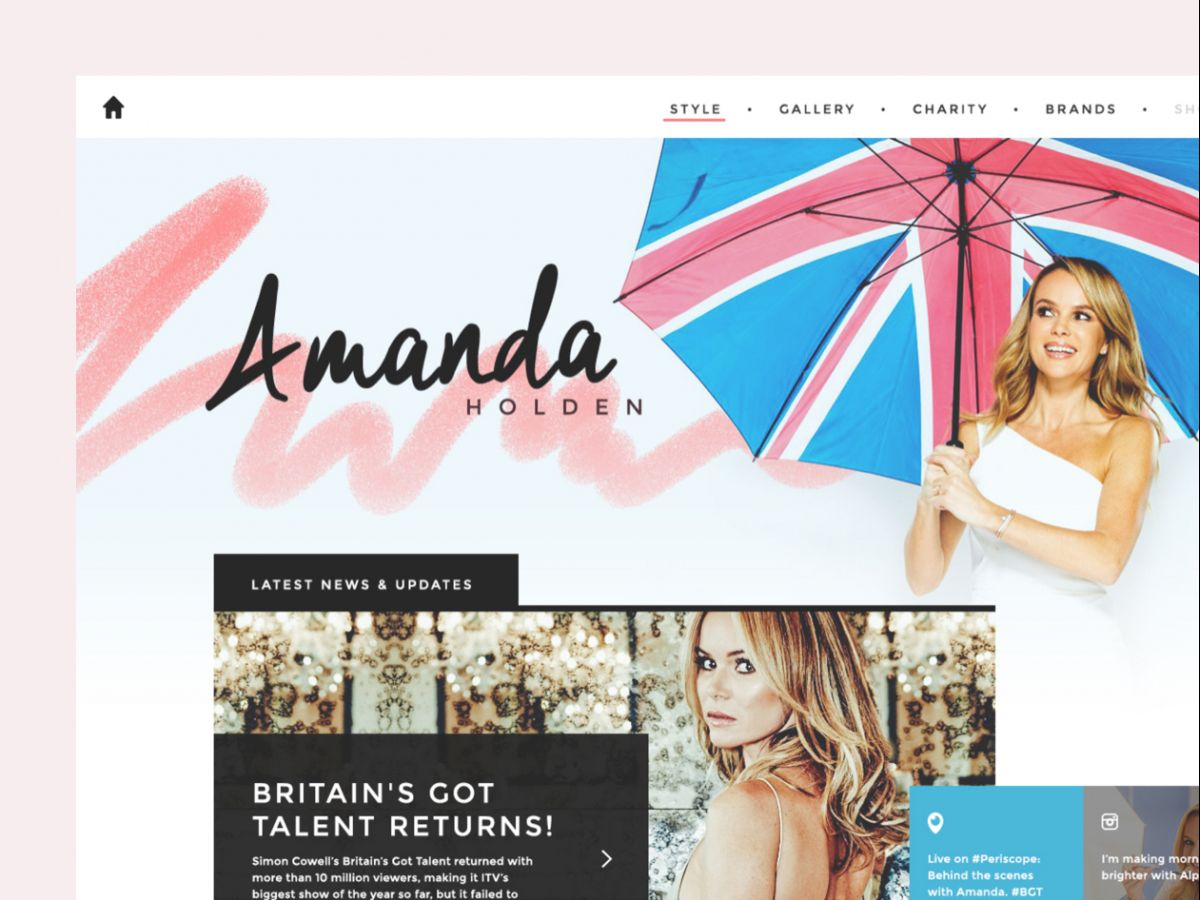 Public-facing website for television personality