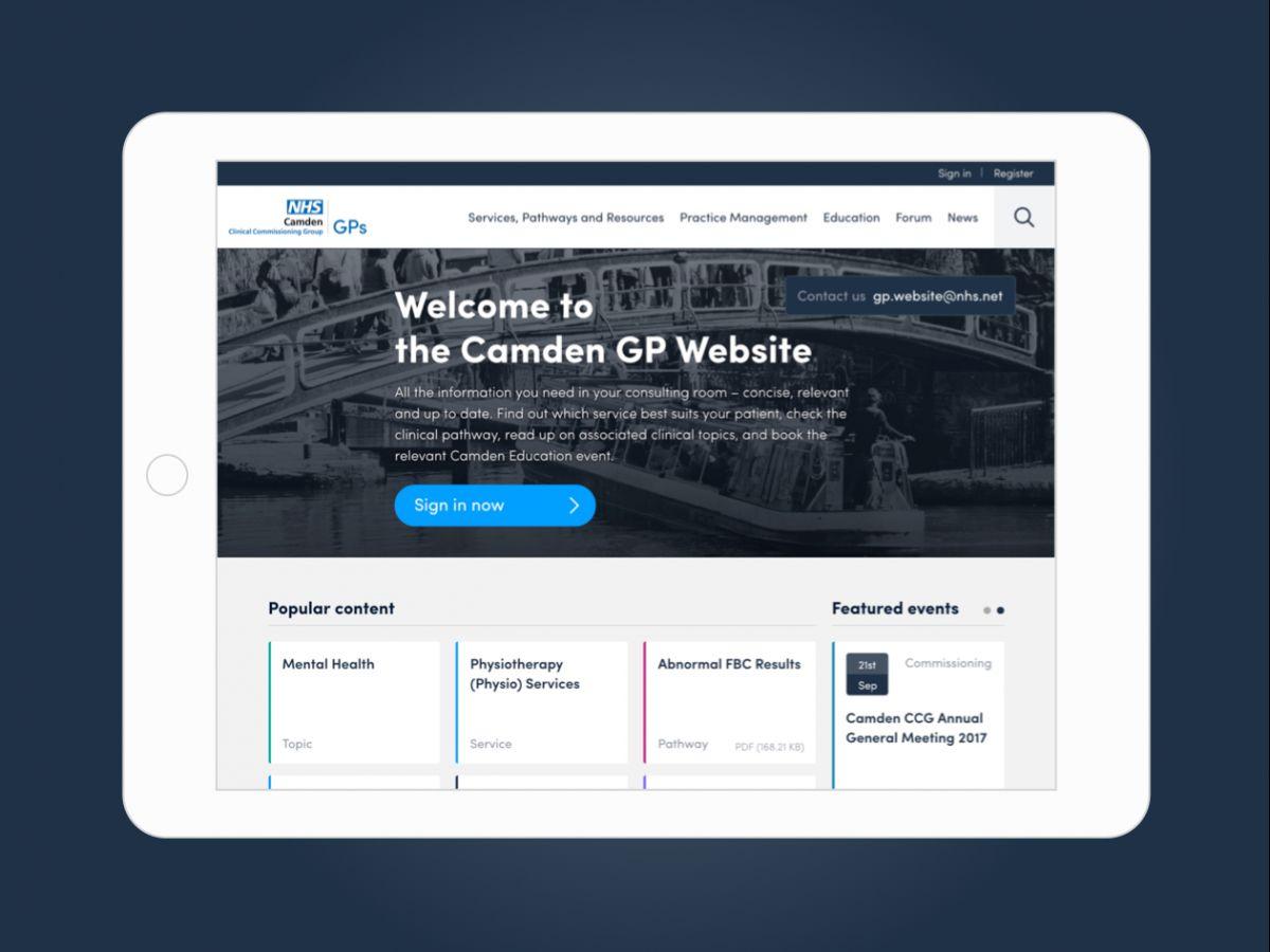 Online hub for NHS doctors in London