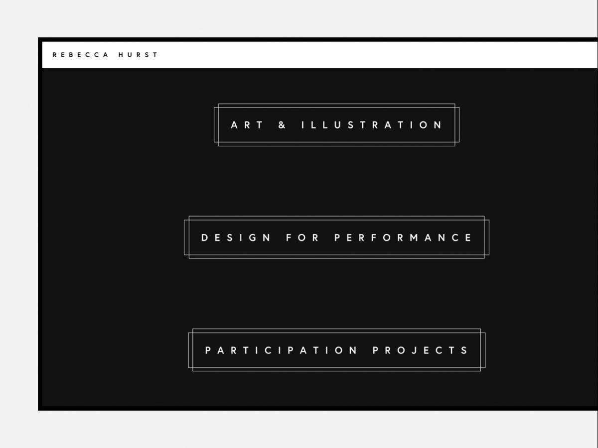 Portfolio showcase for London artist