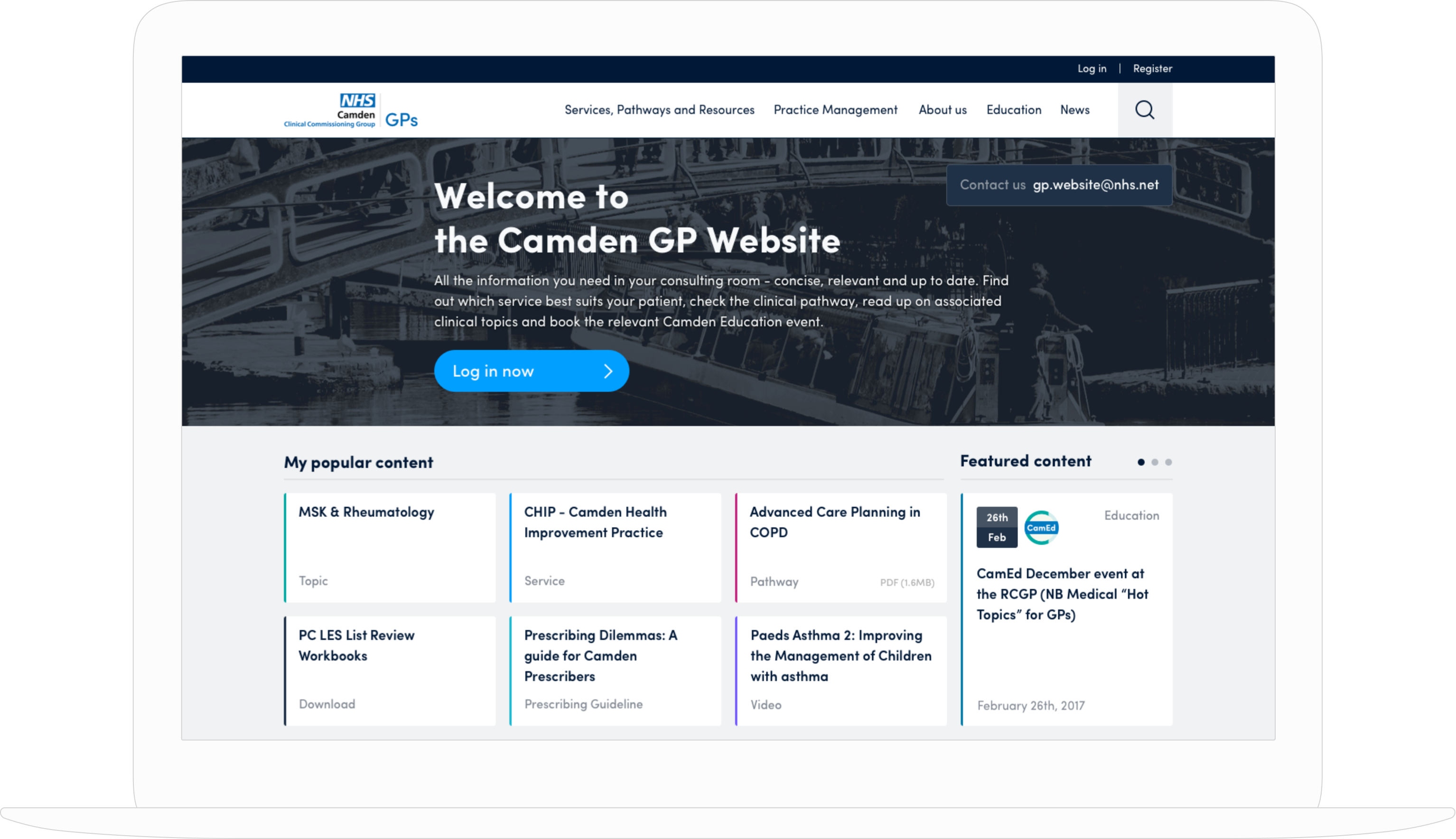 NHS Camden Clinical Commissioning Group Website