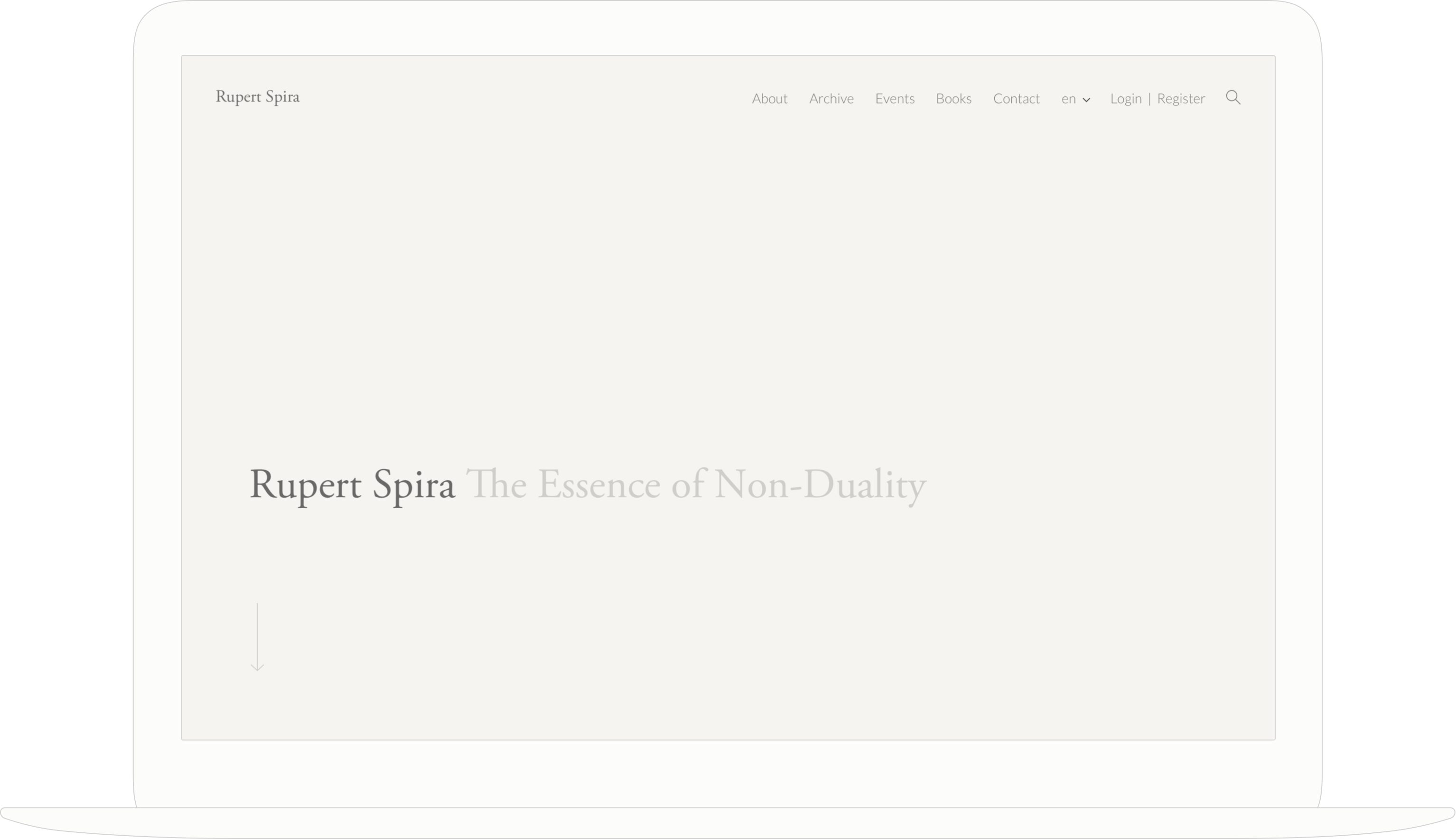 The website for Non-Duality teacher, Rupert Spira