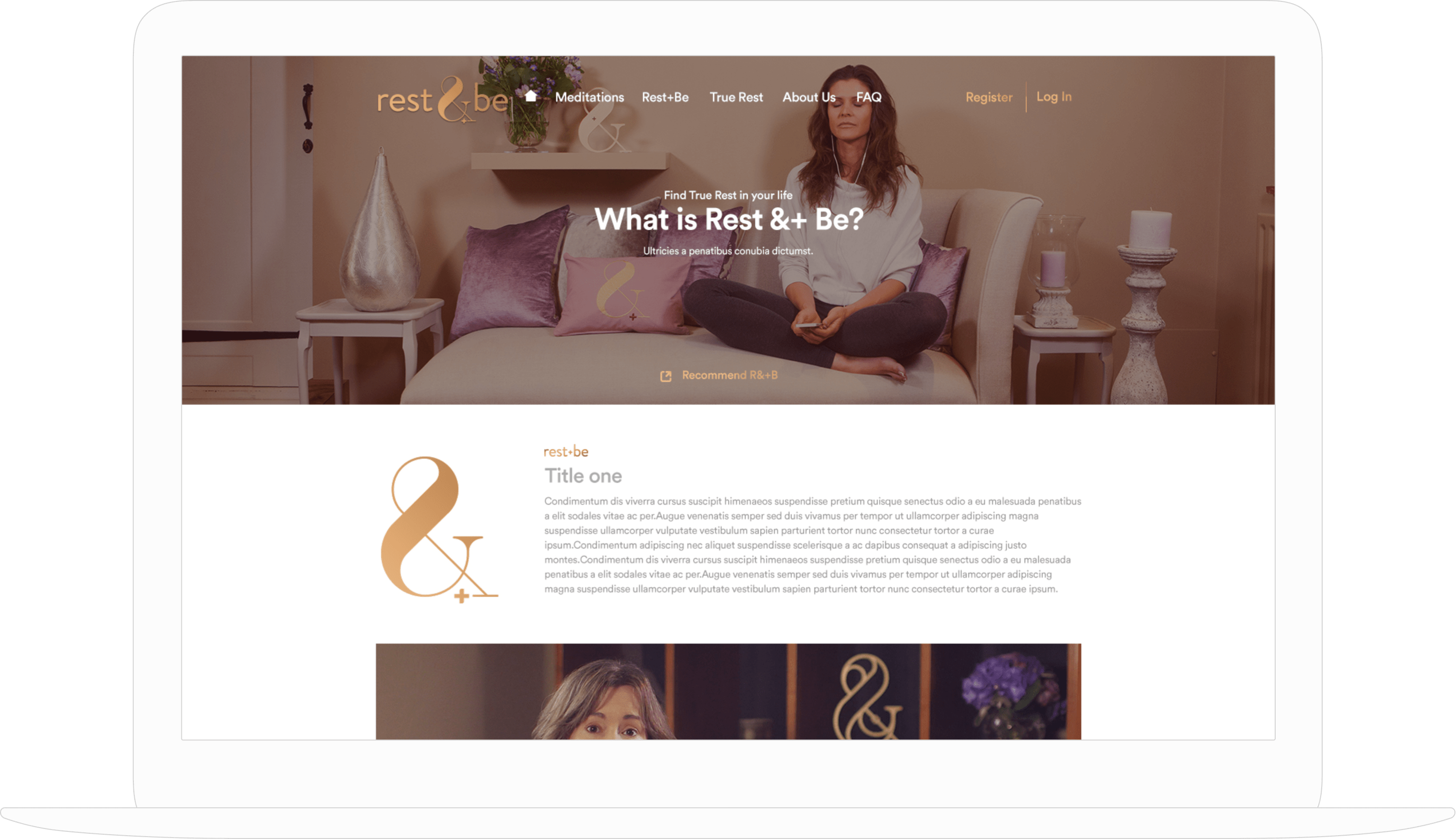 Rest & Be Website