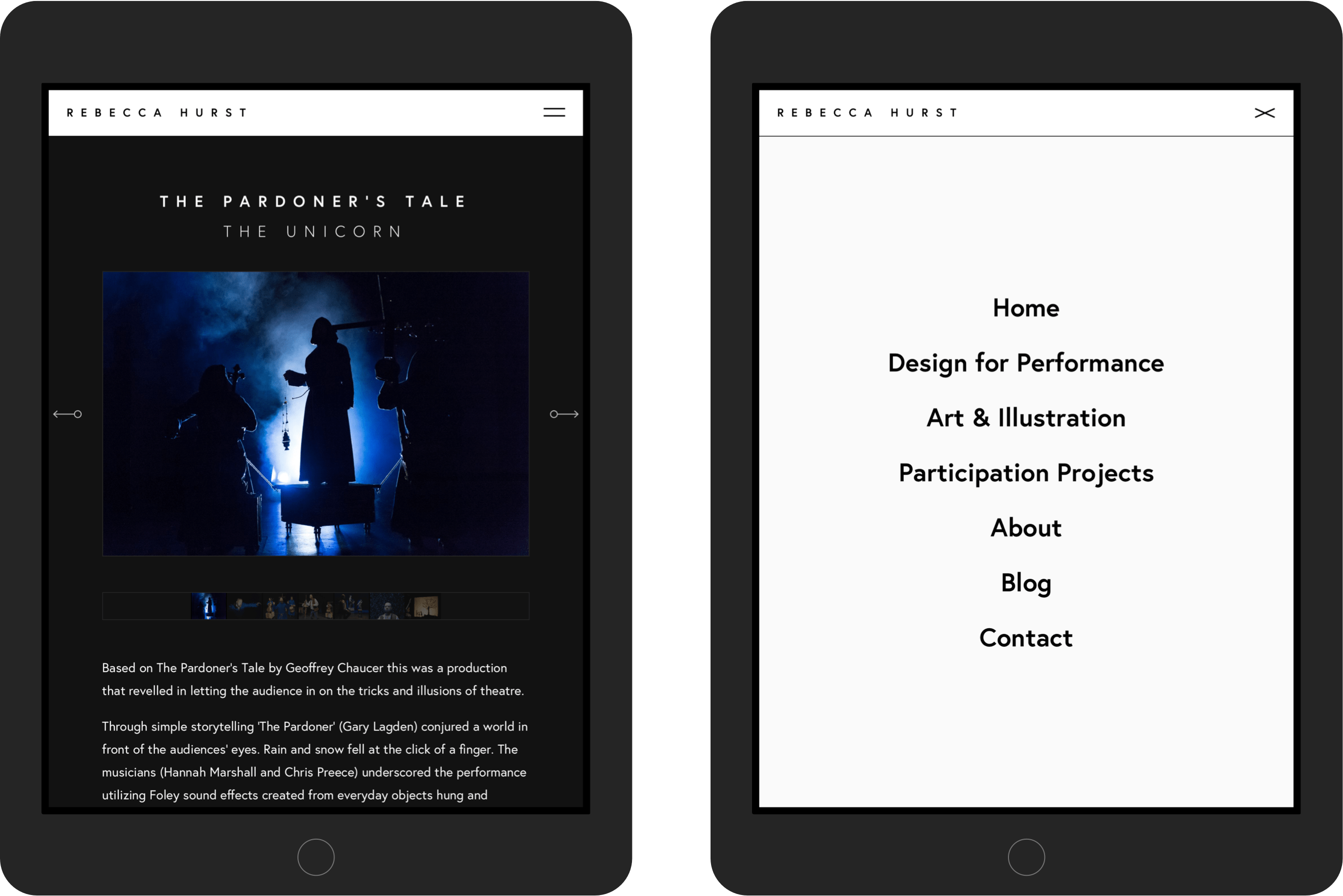 Rebecca Hurst tablet designs